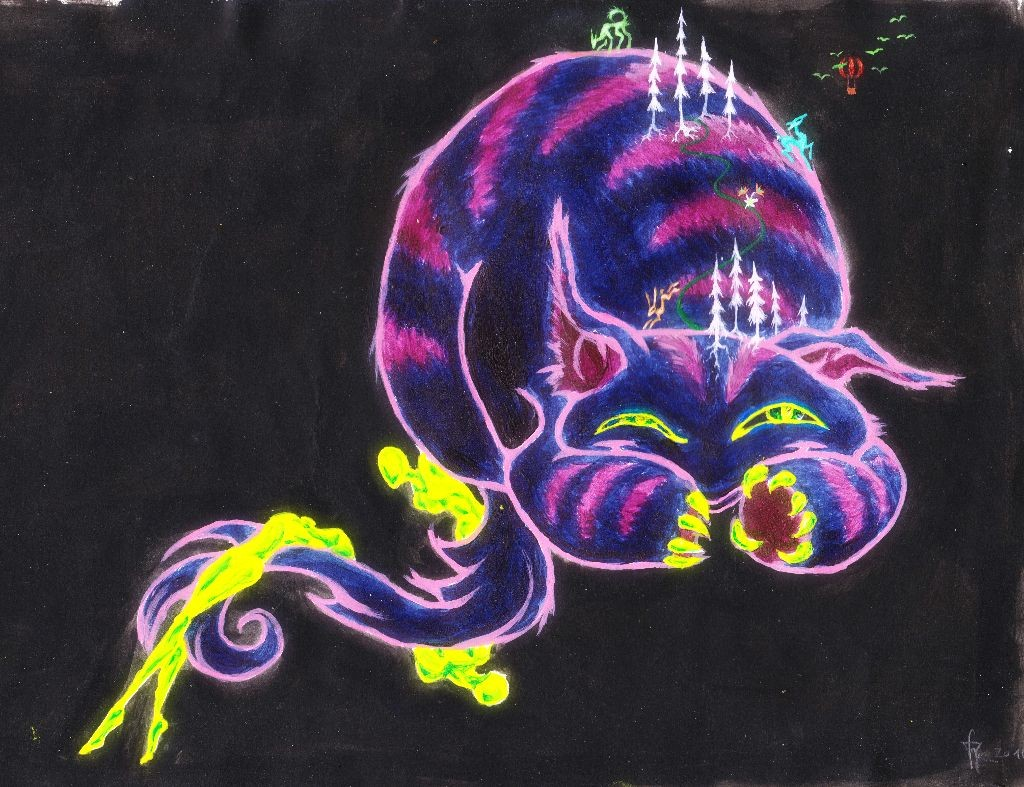cipherism painting fluffy animal we became rabea peter